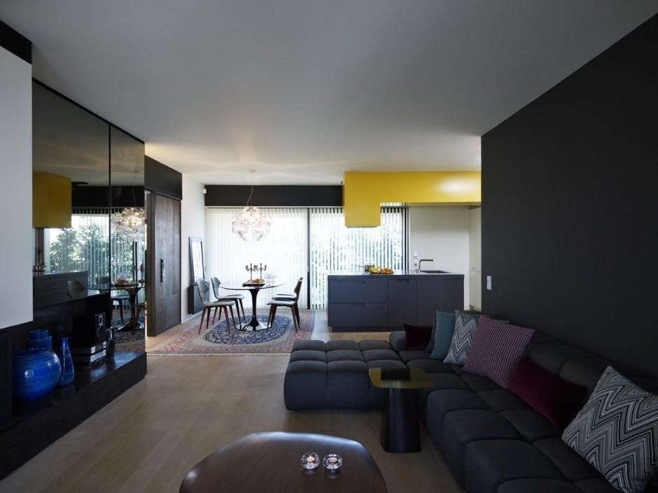 contemporary apartment furniture. apartment interior in athens by spacelab architecture contemporary furniture f