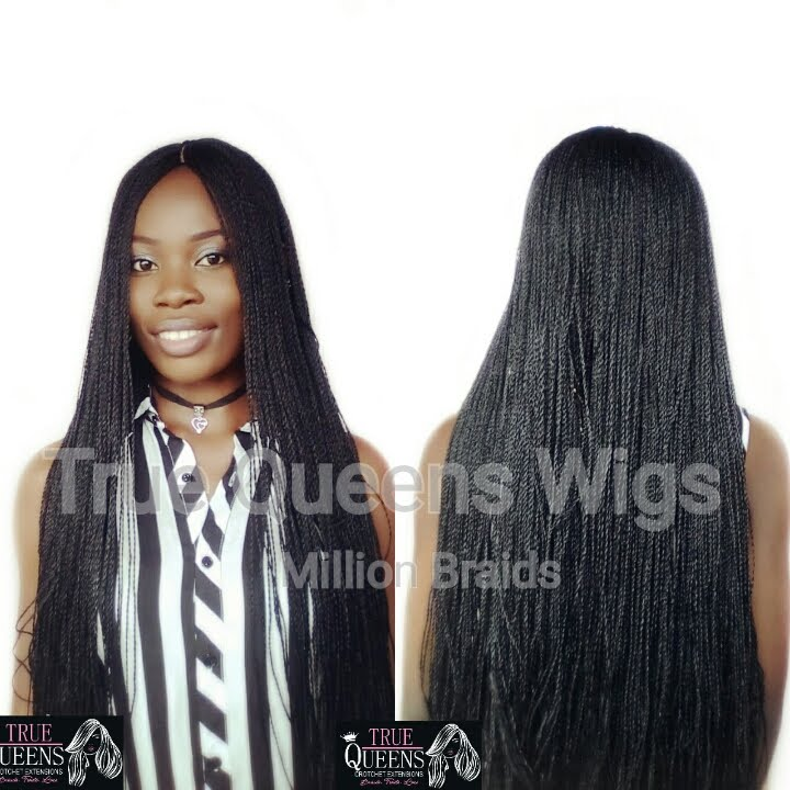 True Queens Wigs- million Braids, Box braids, twists, locks