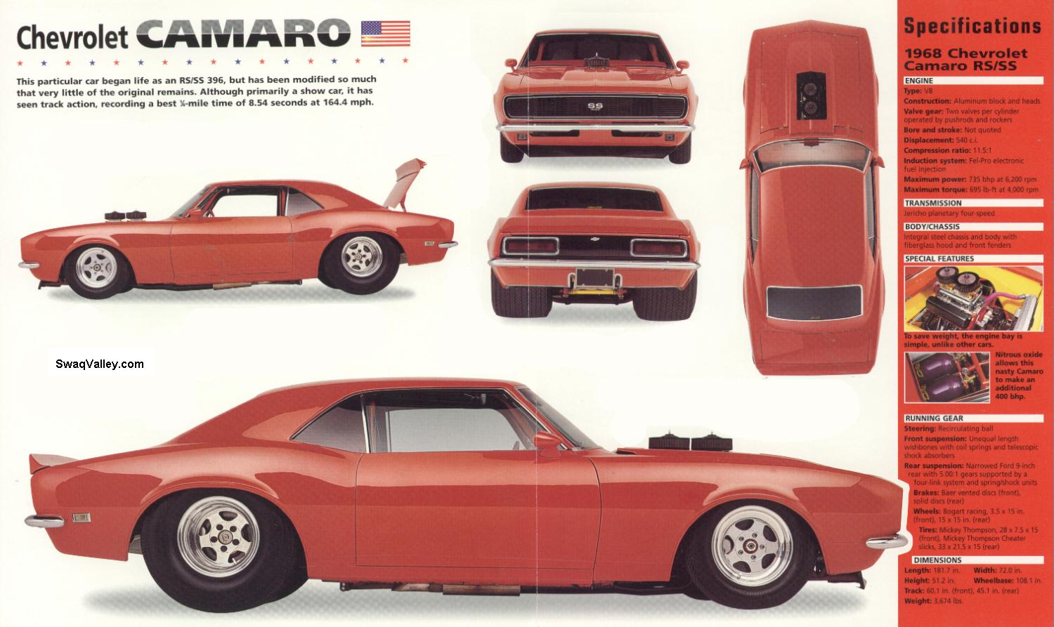 Classic Car Information 1968 Camaro Specifications And Restoration Chevy Project Chevrolet Rs Ss Spects At Brocure Or Leaflet