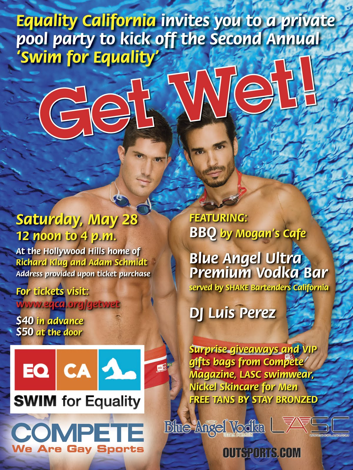 Get Wet for Swim for Equality in Los Angeles. The Federation of Gay Games is ...