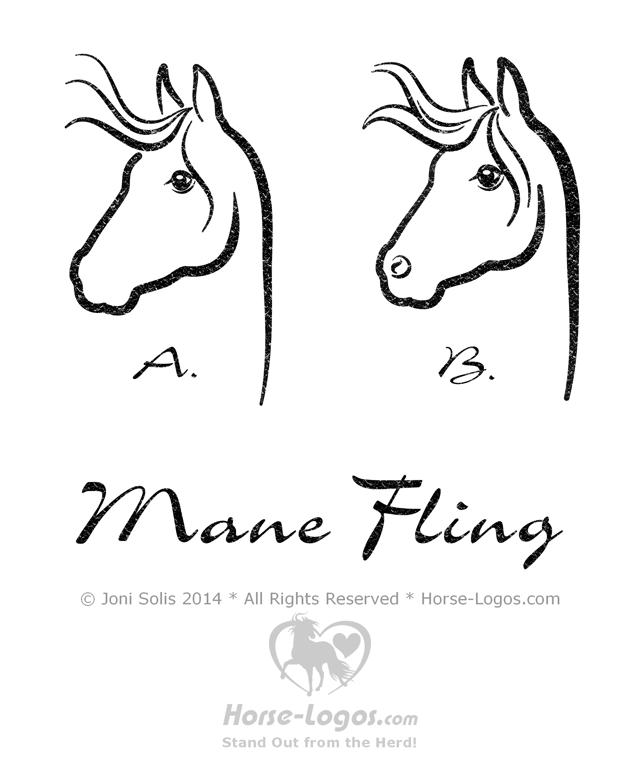 Horse Head Logo Graphic