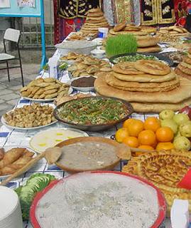 navruz nowruz table special food