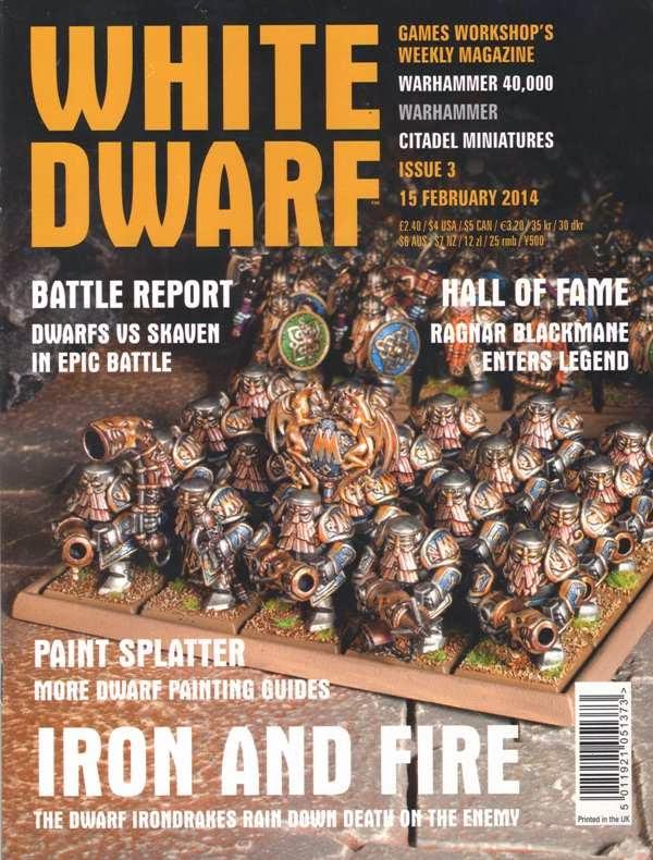 Portada de la White Dwarf Weekly número 3 de febrero
