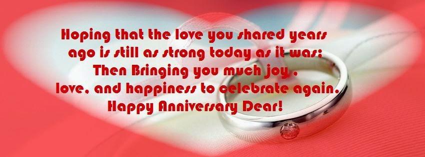 Un joyeux anniversaire de mariage