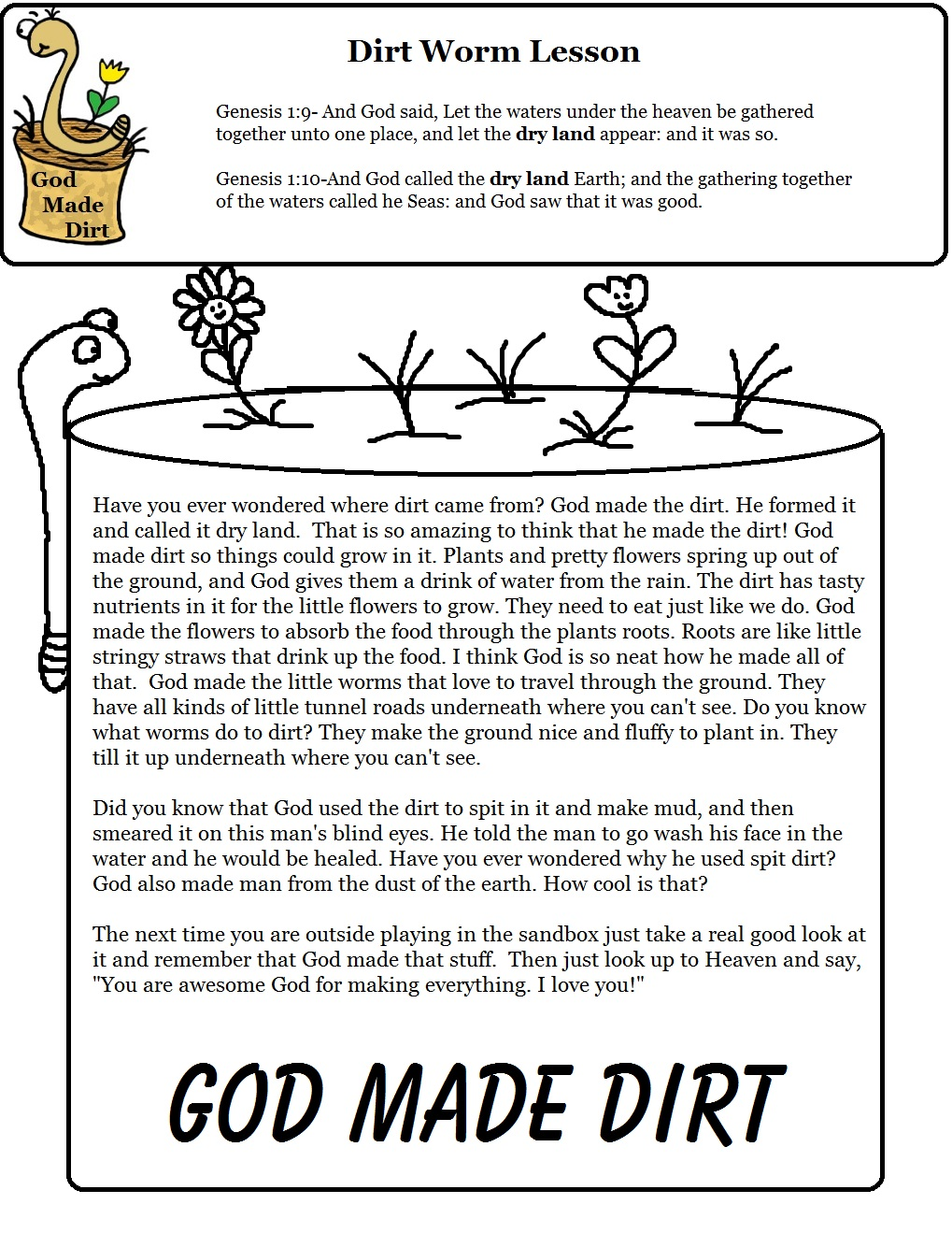 Free Bible Object Lessons For Kids