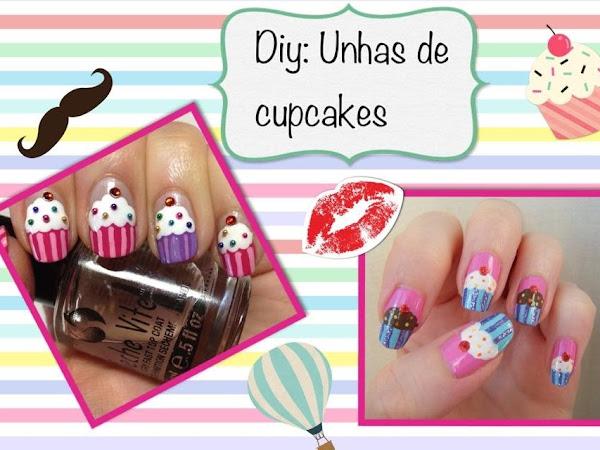 DIY: Unhas de Cupcakes passo à passo