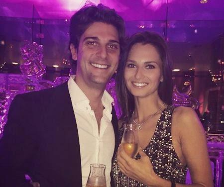 Anna Safroncik insieme al fidanzato