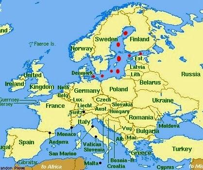 Baltık Denizinin Haritadaki Yeri