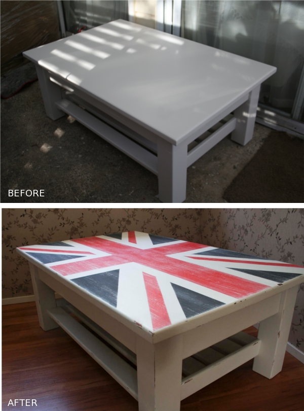 Voodoo Molly Vintage Huge Coffee Table With Union Jack