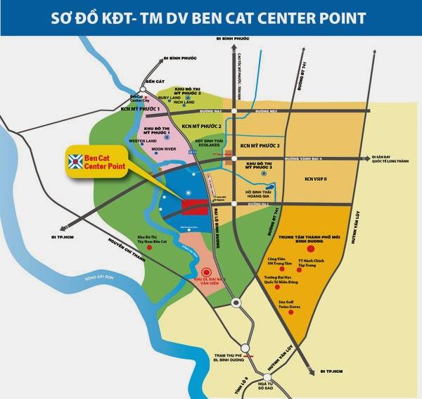 Phối cảnh tổng thể dự án Ben cat center Point