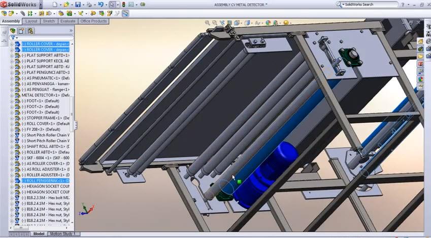 How To Build Belt Conveyor Belt Of Sketch Rolls In Front