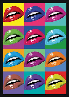 Pop Art Color Block Lips