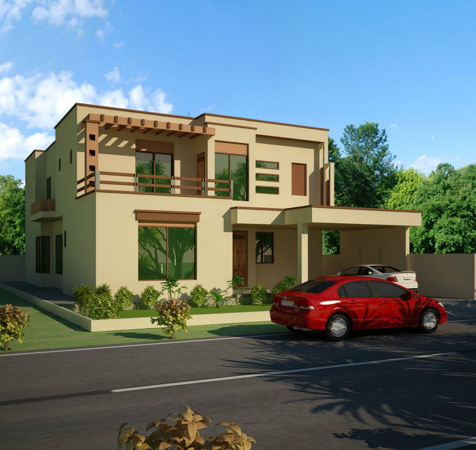 Changing The Front Elevation Of A House : D front elevation dimetia pakistani k nal house