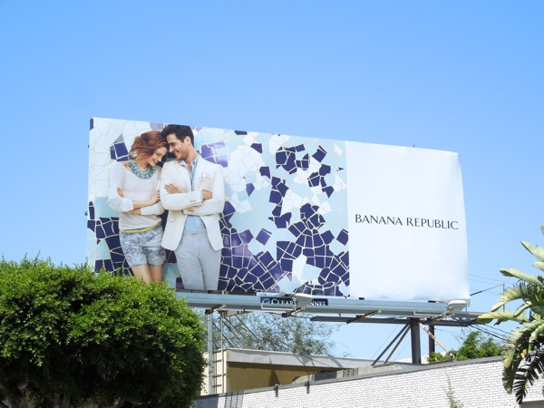 Banana Republic mosaic Summer 2013 billboard