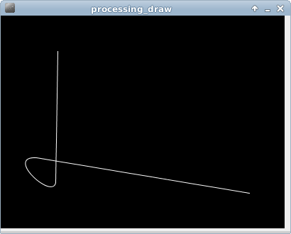 Processing example: curve()
