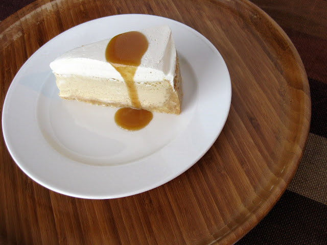 recipe for salted caramel cheesecake with ricotta and cream cheese