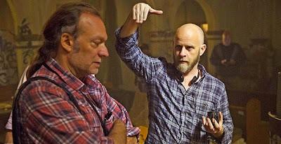 Greg Nicotero e lo showrunner Dave Erickson sul set di Fear The Walking Dead