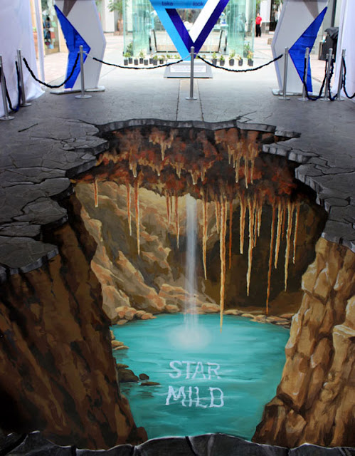street painting artist manfred - 3d sidewalk drawing