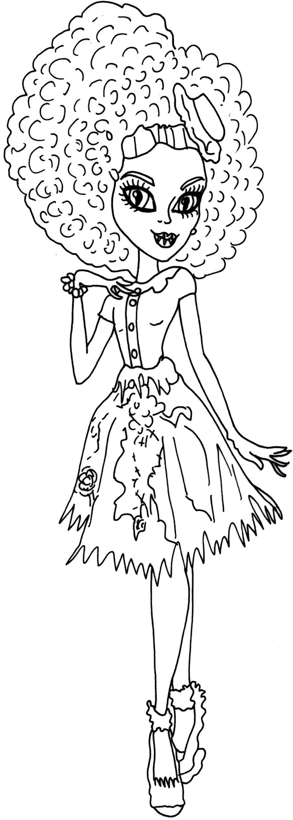 free printable monster high coloring pages honey swamp free