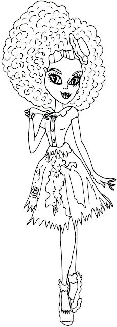 Free Monster High Honey Swamp  Coloring Pages
