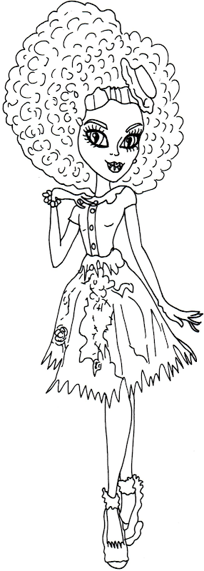 Honey Swamp Free Printable Monster High Coloring Sheet title=