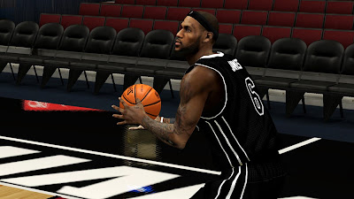 NBA 2K13 LeBron James Cyberface with Beard