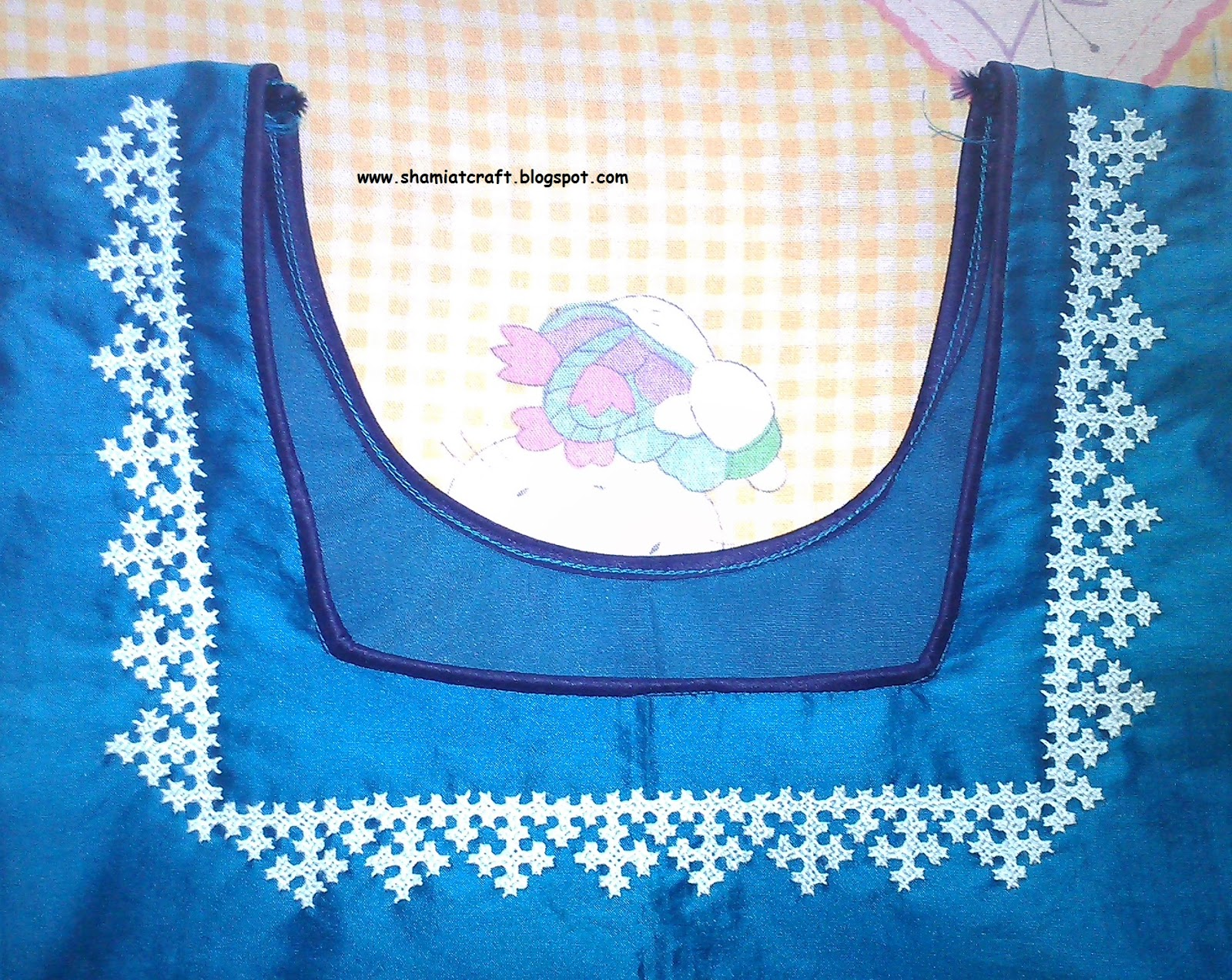 My Craft Works Kutch Work Neck Design