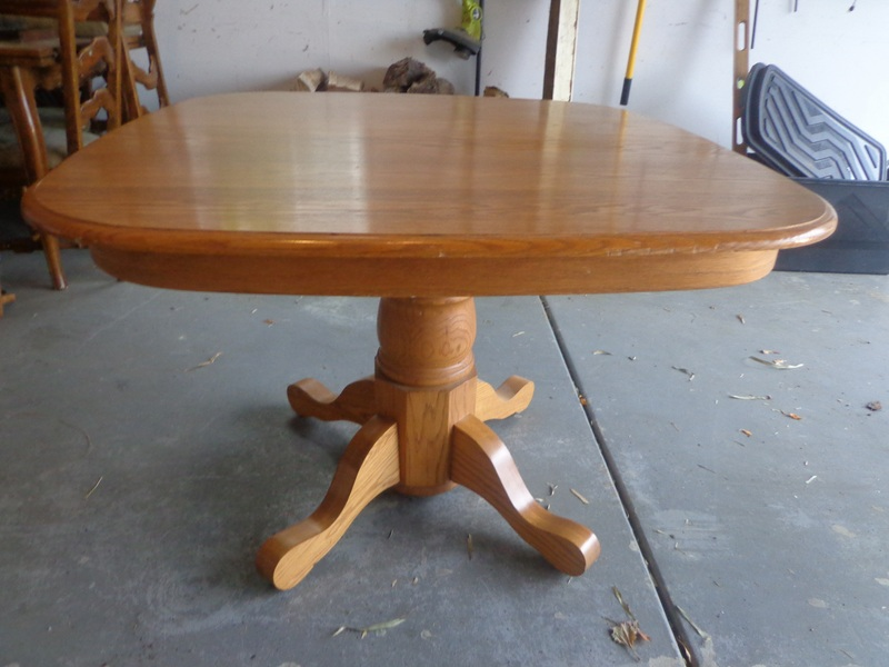 That Make A House A Home Refinishing An Oak Dining Table