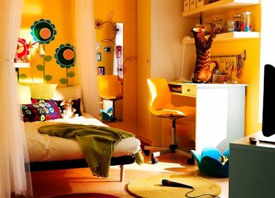 цветы в ярком дизайне комнаты для девочки фото
