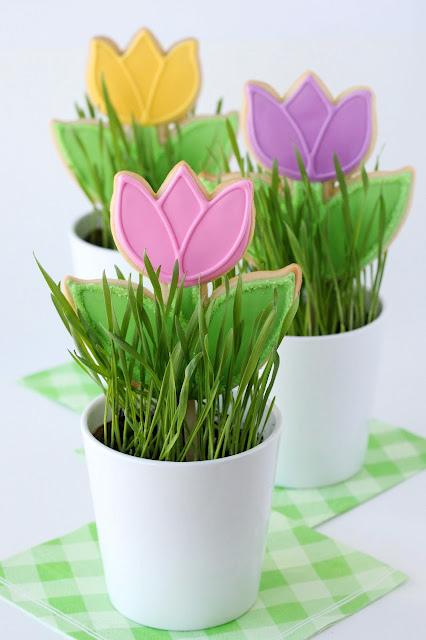 Spring Tulip Cookies – Glorious Treats