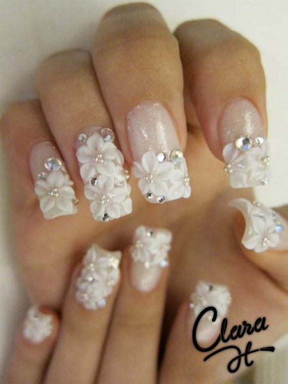 Favorite prom nail designs nail picture art - Decoracion unas para boda ...