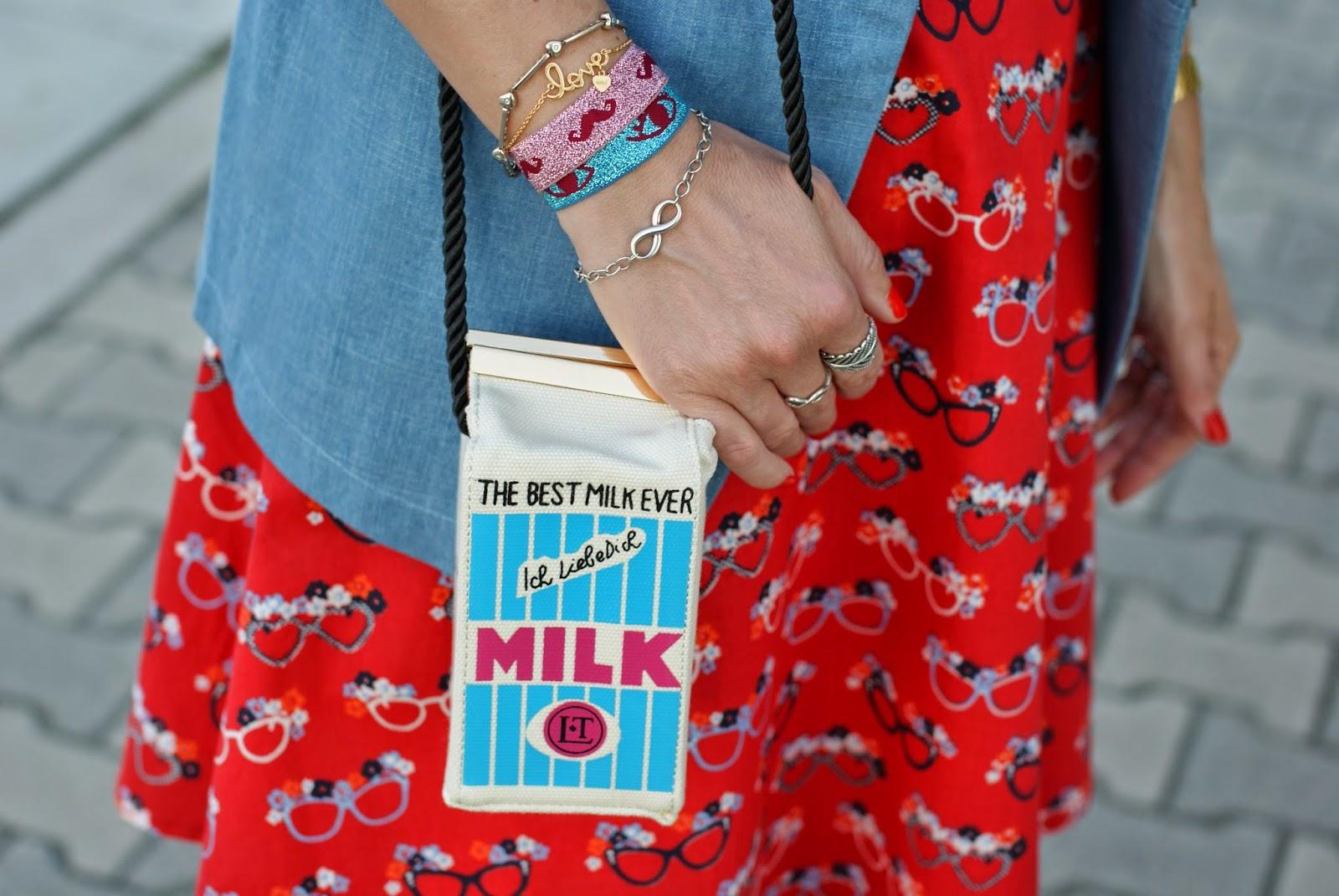 Milk bag Romwe, milk bottle shaped bag, Fashion and Cookies, fashion blogger