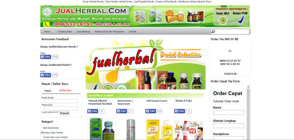 Jualherbal.com Toko Online Grosir Herbal Terpercaya