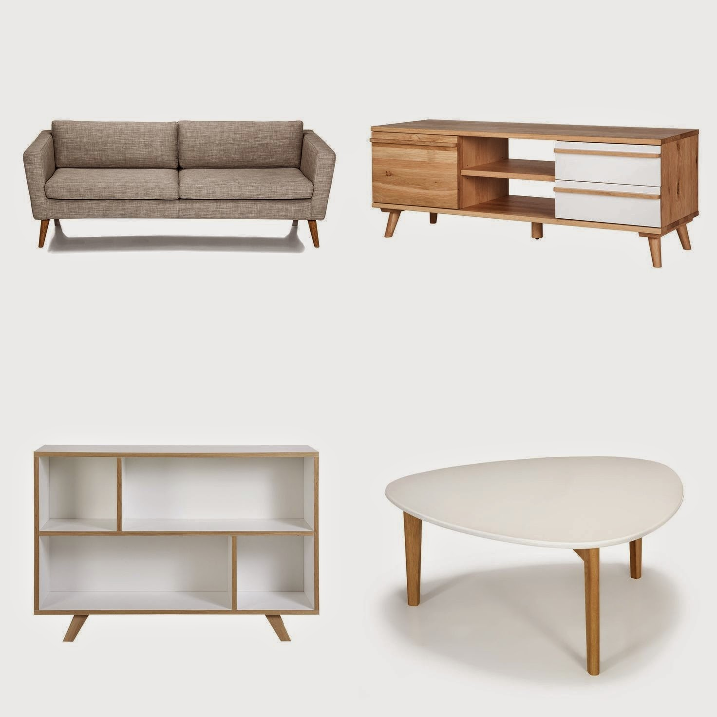 Meuble scandinave pas cher for Meuble buffet salon
