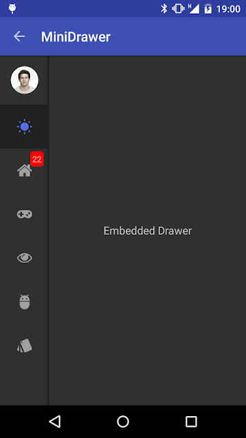 Material Drawer Sample - Icon Navigation