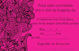 convite chá de lingerie para imprimir grátis