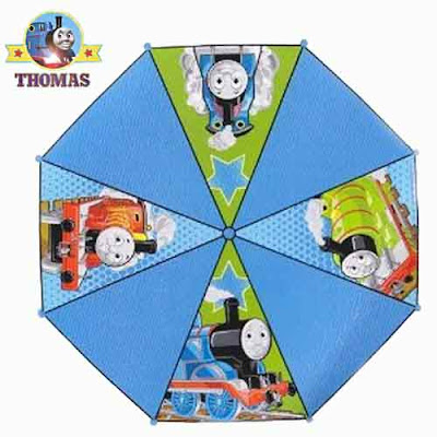 Thomas rain umbrella sunshade logo pictures of Thomas and Percy the tank engine James the red engine