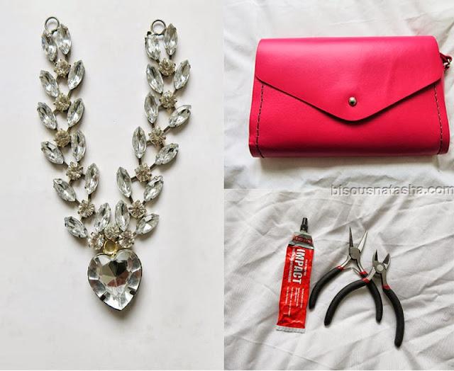 Pinky Embellished Bag