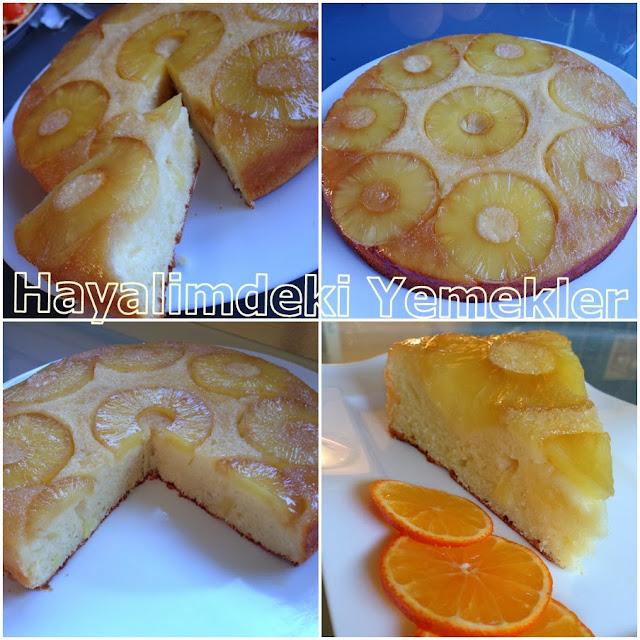 karamelli Ananaslı Kek Tarifleri