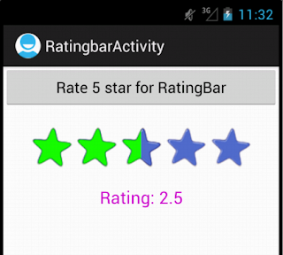 Android Custom RatingBar