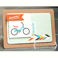 Awesome Bicycle card made from journaling cards