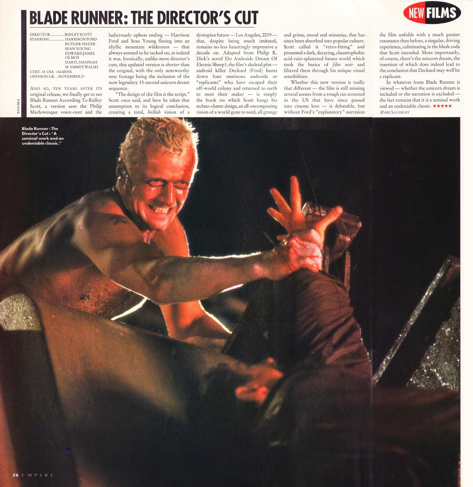 EMPIRE No.42 (Dec 1992) Blade Runner BlBladerunner_Empire4212