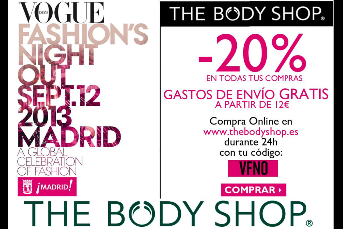 Fashion victim lowcost vuelve la vogue fashion 39 s night out a madrid y online - The body shop madrid ...