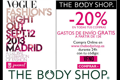 VFNO 2013 Descuento en The Body Shop