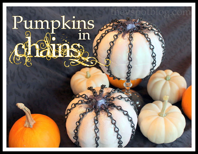 chains, pumpkins, Halloween, diy, craft, decor