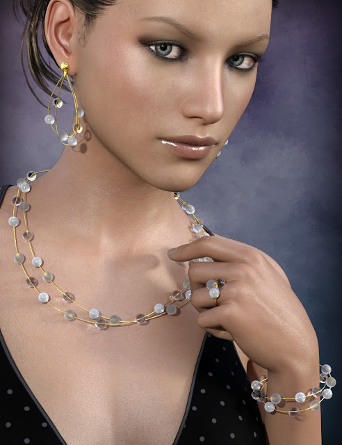 Delicate Jewels for Genesis 3 Female