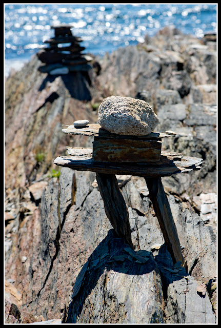 Nova Scotia, Gaff Point; Inukshuk