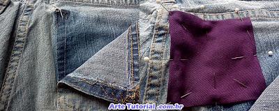 Como arrumar furo de calça jeans
