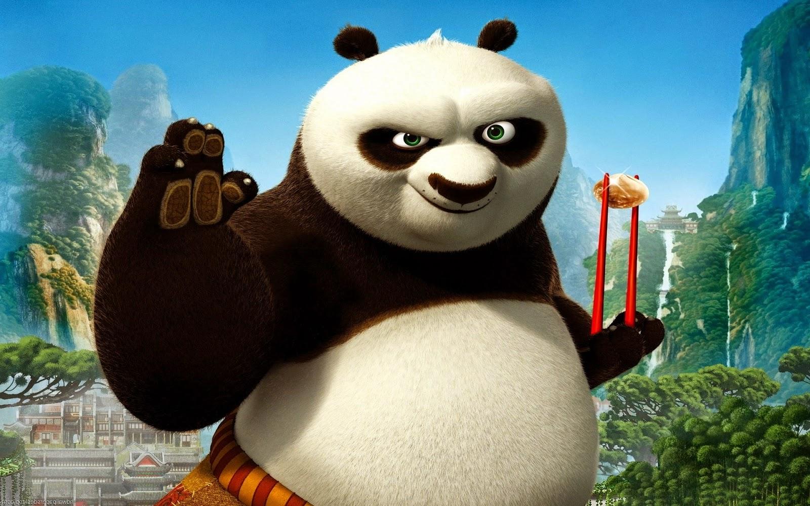 Baby kung fu panda face