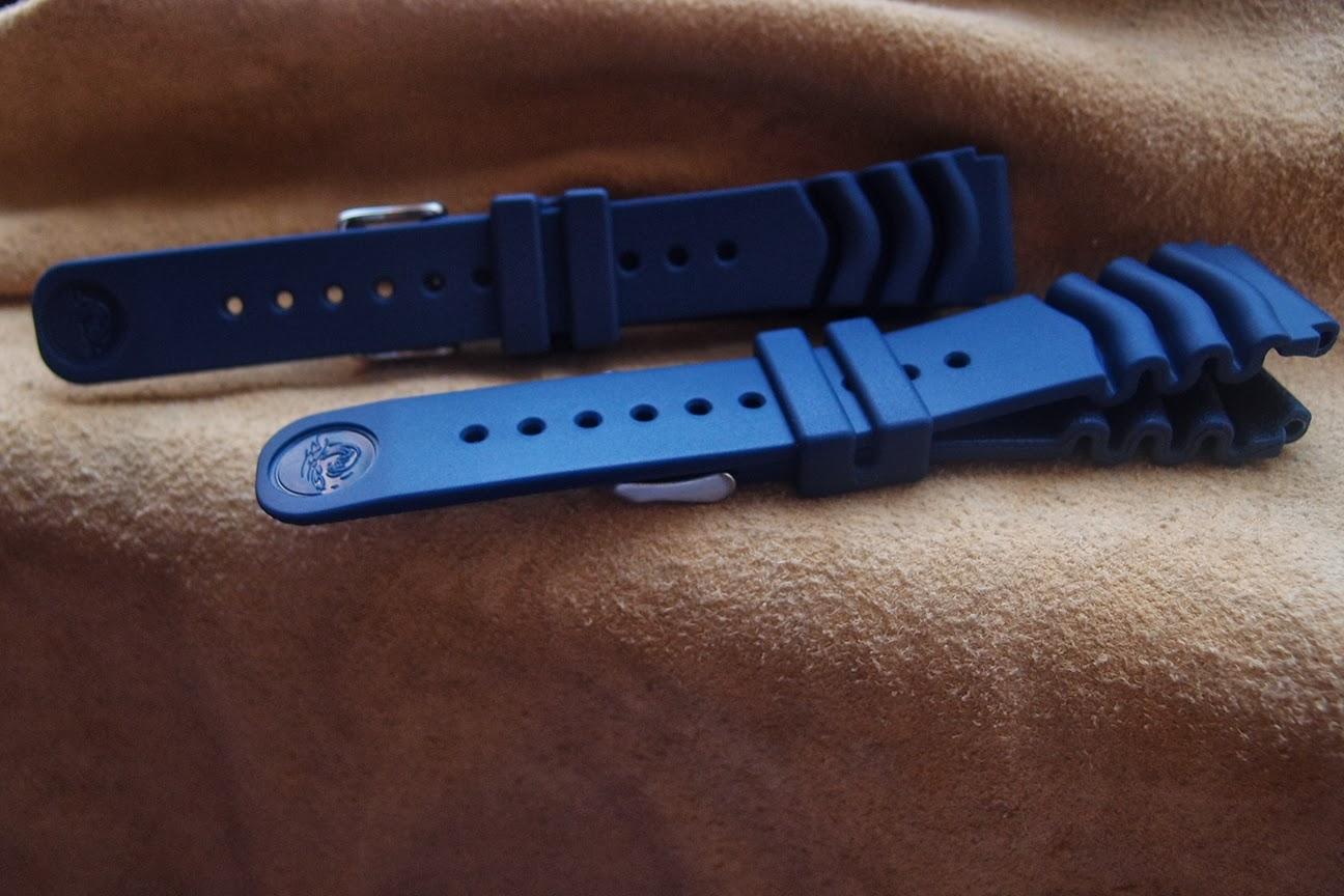 Seiko Blue Rubber Strap